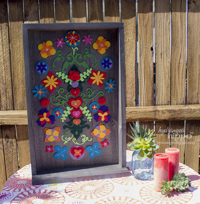 Mexican Garden Decor - Removable Felt Flower Collage - Smart Fun DIY