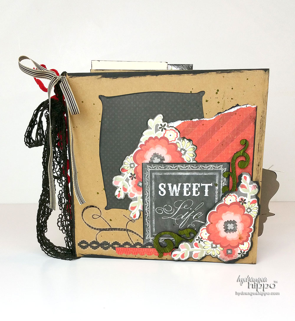 How to Make a Valentine Gift For Sister - Mini Scrapbook by Jennifer Priest
