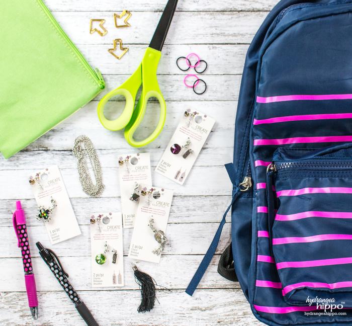 Back-to-school-DIY-school-supplies-planner-charms-Swarovski-hydrangeahippo