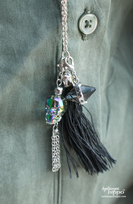 b6df4933071f61 Skull Fast DIY Necklace with Swarovski® Crystals - Hydrangea Hippo ...